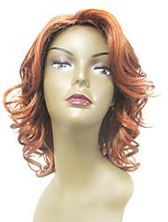 Capless 100% Human Hair Golden Blonde Wavy Hair Wigs