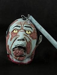 Horrific Latex Hallween Geist-Kopf mit einem Stock