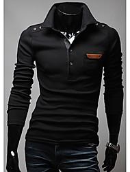 Schulter Buckle Leather Pocket Dekoriert Hemd
