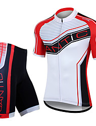 SANTIC Bike/Cycling Jersey + Shorts / Padded Shorts / Clothing Sets/Suits / Tops Men's Short SleeveBreathable / Ultraviolet Resistant /