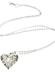 925 Silver Heart-Shaped Pendant Necklace