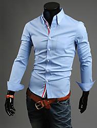 Голубой RR ПОКУПАТЬ Человек Повседневная футболка с длинным рукавом