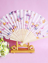 Nice Butterfly Theme Hand Fan - Set of 4 (More Colors,Random Floral Patterns)