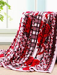 Modern Style Love Flowers Flannel Blankets