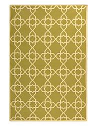 Casual lã adornado tapete de área Com Quadrilátero Padrão 5 '* 8'
