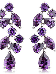 Elegant Platinum Plated Cubic Zirconia Earrings More Colors(Lengte*Width  39mm*14mm)