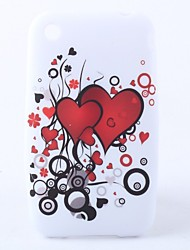 Heart-Shaped Pattern Caso macio para iPhone 3G e 3GS