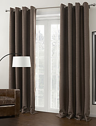 Brown Solid Blackout Curtains
