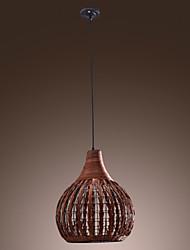 60W Comtemporary Cane Pendant Light Natural Design