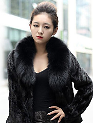 Thick Long Sleeve Shawl Collar Faux Fur Party/Casual Jacket(More Colors)