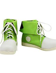 Frescos elogio Líder Verde PU Leather Calçados Esportivos