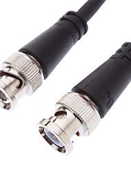 BNC mâle à mâle noir Câble pour CCTV (1.5M)