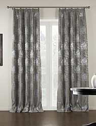 One Panel Luxury Jacquard Floral Blackout Curtain