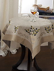 Grey Linen Square Table Cloths