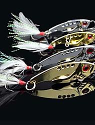 Pêche 3 Crochets de poisson métallique en forme de Lure (7g, 12g; Couleur Ramdon)