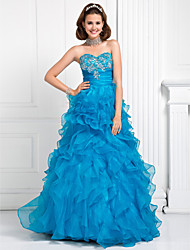 TS Couture Prom / Formal Evening / Quinceanera / Sweet 16 Dress - Pool Plus Sizes / Petite Ball Gown / A-line / Princess Sweetheart Floor-length