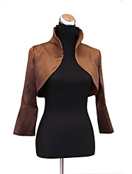 Wedding  Wraps Coats/Jackets Long Sleeve Stretch Satin Wedding / Party/Evening T-shirt Open Front