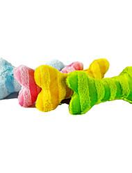 Colorful Stripe dell'osso di figura del giocattolo della peluche per animali Cani (colori assortiti)