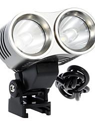 Luce della bicicletta (1000LM, 2x18650, Grigio) GFQQ X5-5-Mode del Cree XML T6 LED