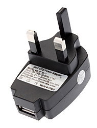 Universal UK USB Wall Power Adapter Black