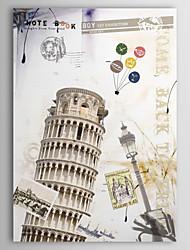 Reproducción en lienzo de Arte Arquitectura de la memoria de la Torre Inclinada de Pisa