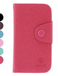 PU-Leder-Schutzhülle mit Card Slot für Samsung Galaxy S3 I8190 mini