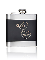 Gift Groomsman Personalized 6-oz Flask - Love Birds