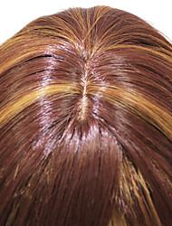Haut Grade Brown court synthétique perruque Capless