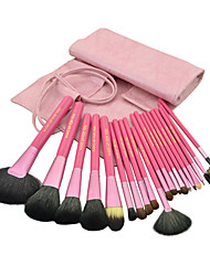 Make-up For You® 20pcs Makeup Brushes set Goat/Pony/Horse/Wool/Bristle Hair  Limits bacteria/Professional Pink Blush/Shadow/Powder Brush
