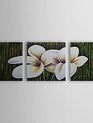 Hand Painted Oil Painting Floral Purple Flowers with Stretched Frame Set of 3 1308-FL0734