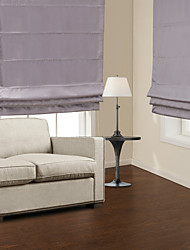 TWOPAGES® Graceful Lavender Blackout Roman Shade