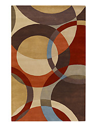 Modern Artistic Wool Tufted Area Rug 5'×8'