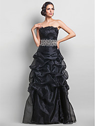 TS Couture® Prom / Formal Evening / Military Ball Dress - Vintage Inspired Plus Size / Petite A-line Strapless Floor-length Organza with Beading /