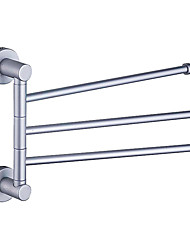 "Towel Bar Aluminum Wall Mounted 225 x 320 x 58mm (8.8 x 12.6 x 2.3"") Aluminum Contemporary"