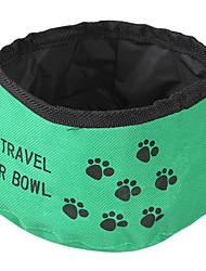 Gato Cachorro Tigelas e Bebedouros Animais de Estimação Tigelas e alimentação de animais Dobrável Vermelho Verde Azul Têxtil