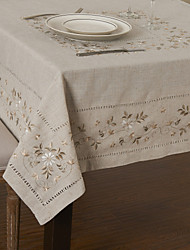 As per picture Linen / Cotton Blend Square Table Cloths
