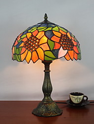 Tiffany Designed Table Light with 1 Light in Sunflower Pattern
