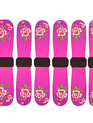 3D Full Cover Nail Water Transfer Stickers C8 Sery Fushcia Peony