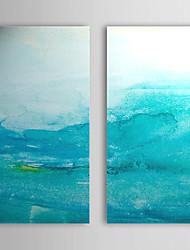 Peint à la main Peinture à l'huile abstraite avec cadre étiré Lot de 2 1308-AB0725