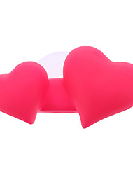 Sweet Dual-Heart Toothbrush Holder with Sucker (Random Color)