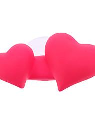 Doce porta-escovas Dual-Coração com Ventosa (cor aleatória)