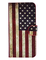 die Sterne und die Streifen-Muster Ganzkörper-Fall mit Card-Slot und integrierte matte PC wieder für iphone 5/5s decken