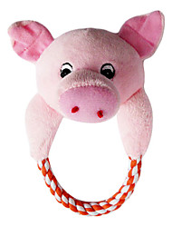 Cute Pink Pig Head Big Hug with Rope for Pets Dogs