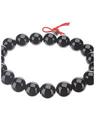Men's 10mm Round Black Onyx Gemstone Bracelet  Jewelry