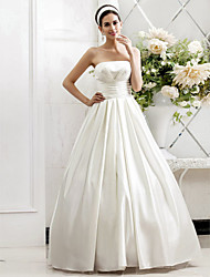 Lanting Bride® A-line / Princess Petite / Plus Sizes Wedding Dress - Chic & Modern / Glamorous & Dramatic Sweep / Brush Train Strapless