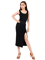 Ballroom Dancewear Cotton Latin Dance Dress for Ladies