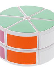 DS-88 en forme de cylindre Casse-tête Magic Cube IQ Kit complet à deux couches (Blanc)