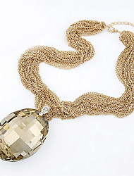 Luxurious Alloy With Drops Shaped Rhinestone Pendant Women's Necklace(More Colors)