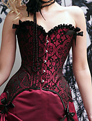 Corset Gothic Lolita Red Lolita Accessories For Polyester