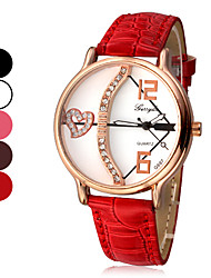 Arrow Pattern wijzerplaat pu lederen band Quartz Analoog Wrist Watch Women's Love's (verschillende kleuren)